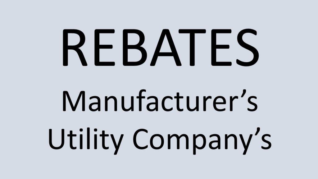 Manufacturer and utility rebate coupon