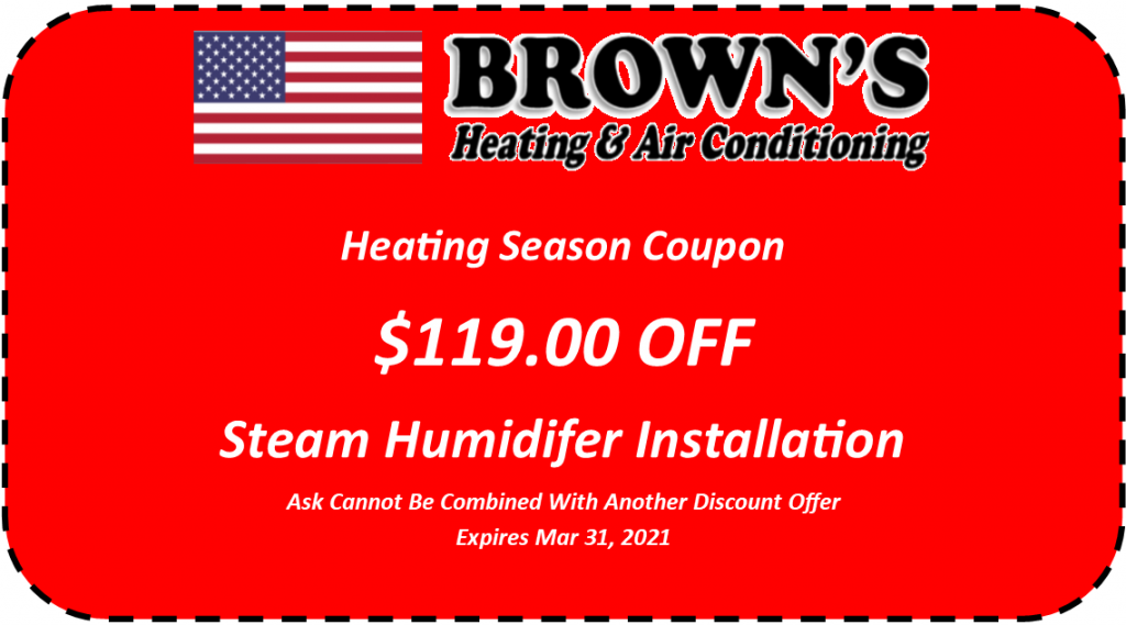 Steam humidifier installation coupon